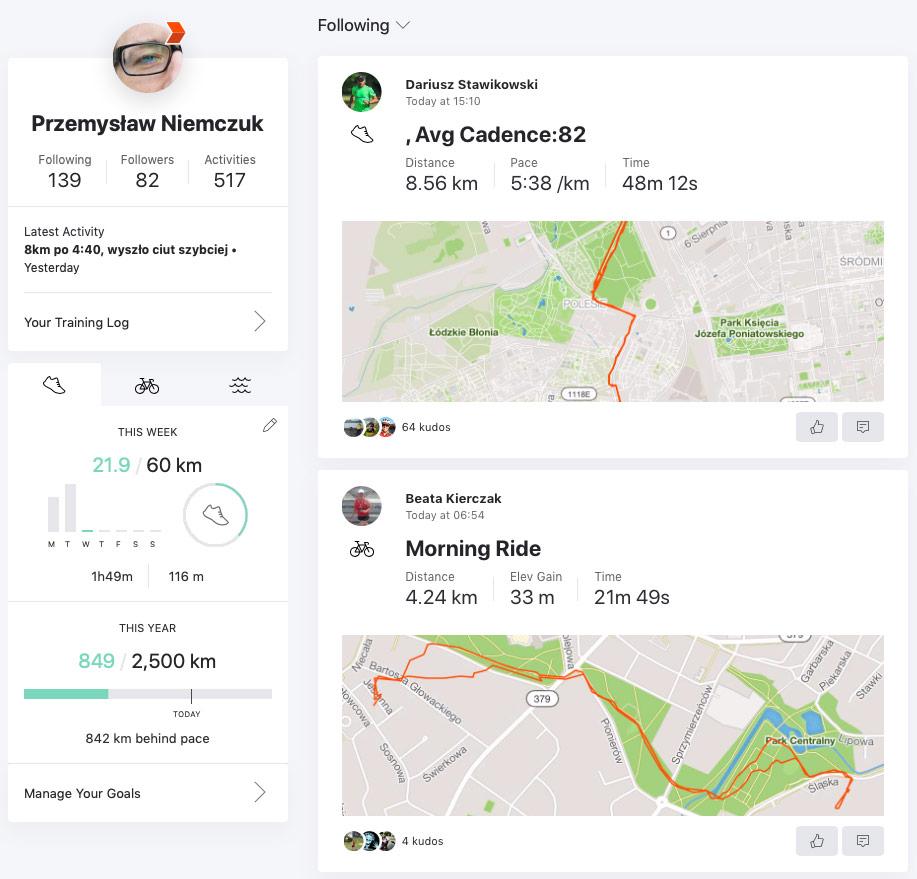 Jaka aplikacja na rower, do biegania i innych ćwiczeń?