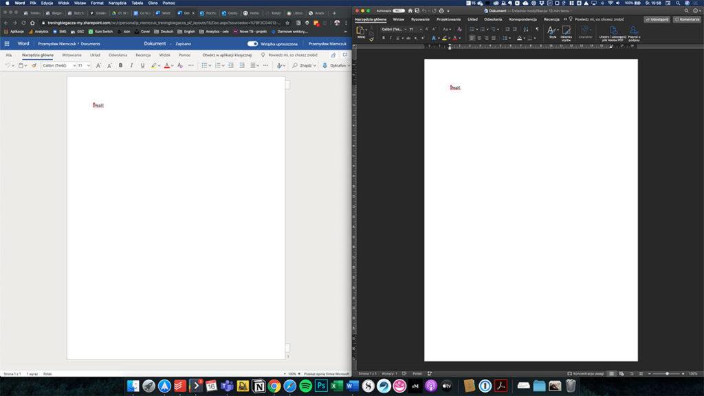 Word - online oraz natywna aplikacja