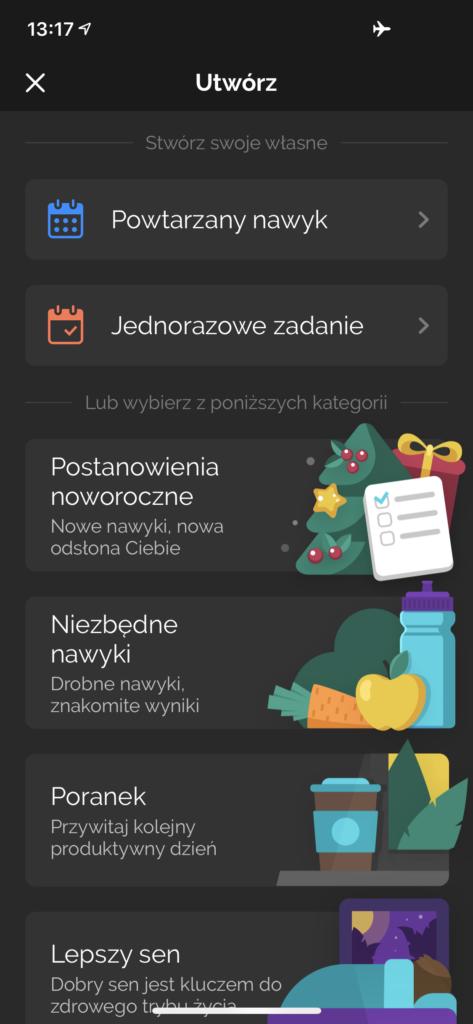 Productive - aplikacja do kształtowania nawyków